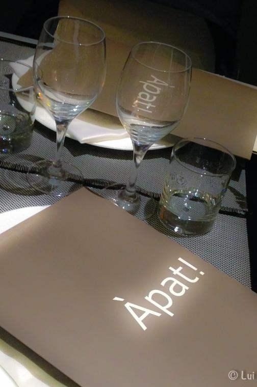 Carta Restaurante Apat Barcelona