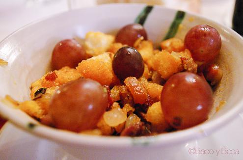 Migas con uvas restaurante alcazaba albarracin