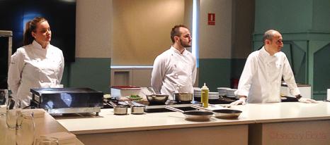 equipo-Paco-perez-chef-barcelona-mercat-de-mercats-showcooking-baco-y-boca