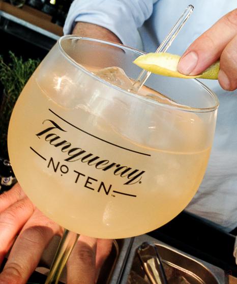 Gin Tonic Tanqueray n 10 ocean club baco y boca