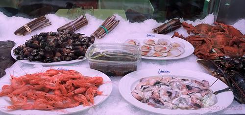 pescado y marisco nevera carballeira baco y boca