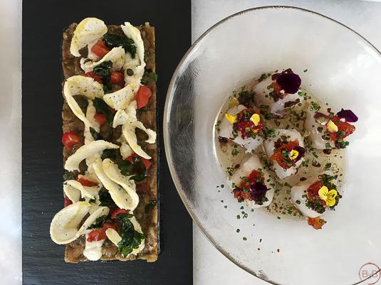 Bacalao y Caviar de Berenjena