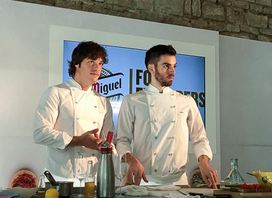 Jordi Cruz y David Andres en Barcelona Food Explorers Tast