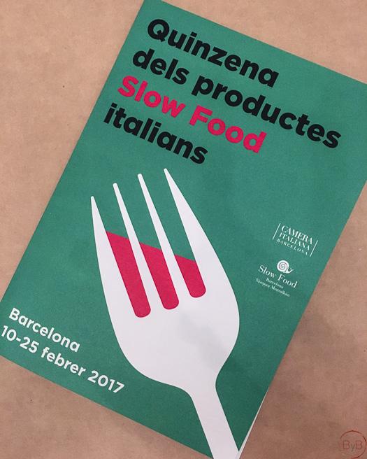 Quincena de productos italianos slow food