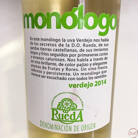 Vinos Monólogo Rueda